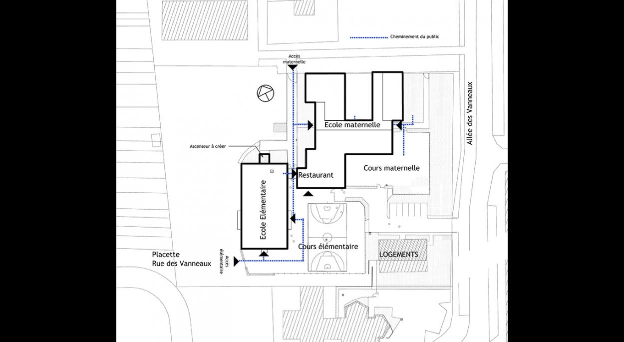 Plan de Masse - Groupe scolaire Célestin Freinet