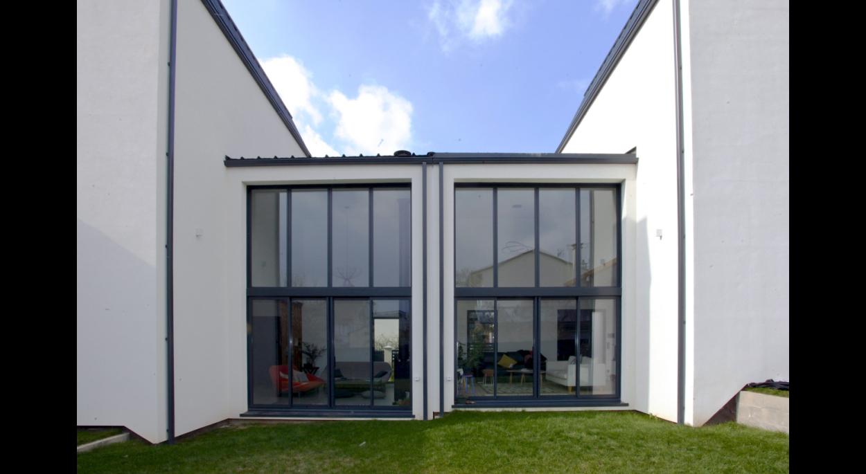 Façade coté jardin - Maisons jumélées