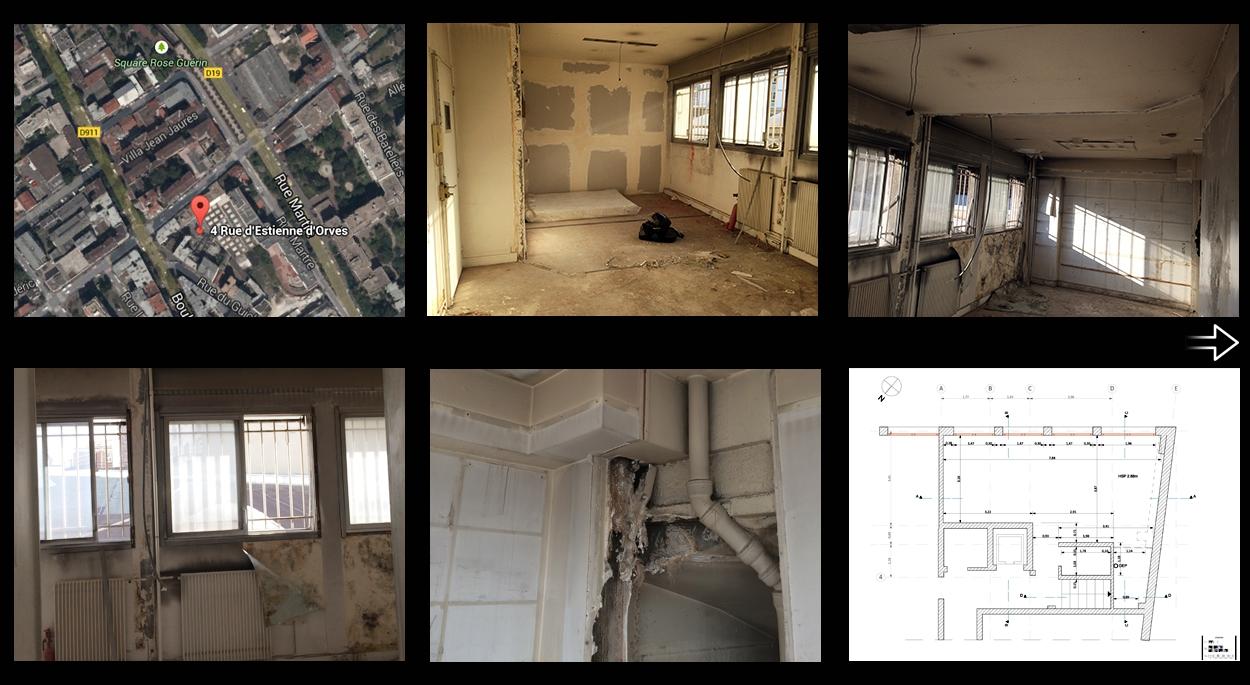 rehabilitation appartement à Clichy