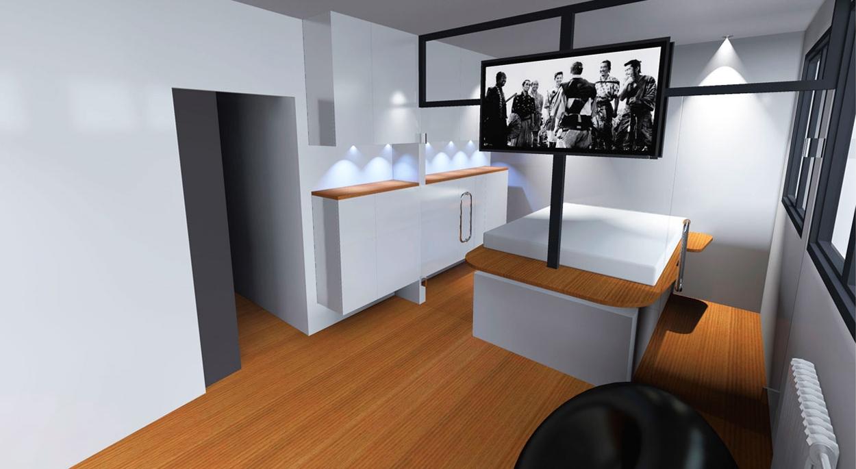 montage 3D rehabilitation appartement à Clichy