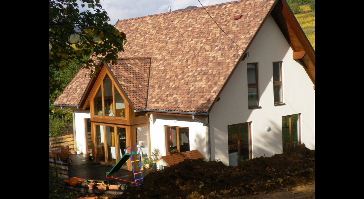 maison site classé, construction neuve, ossature bois