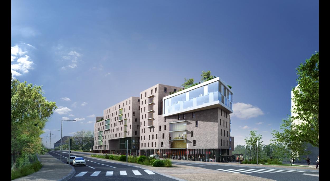 Constructon de 132 logements et locaux d'activité