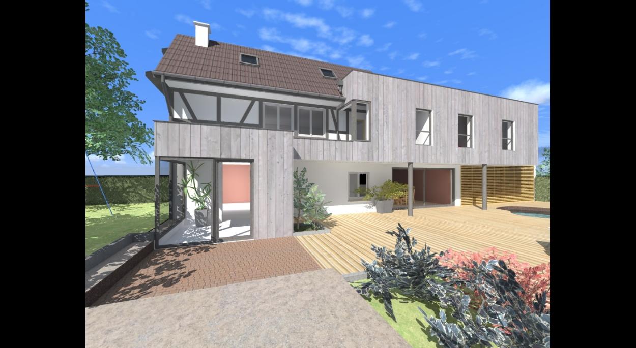 Extension d'une maison individuelle à Plobsheim