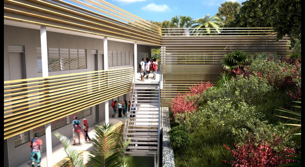 Extension du Collège de M'GOMBANI (Mayotte) avec Endémik