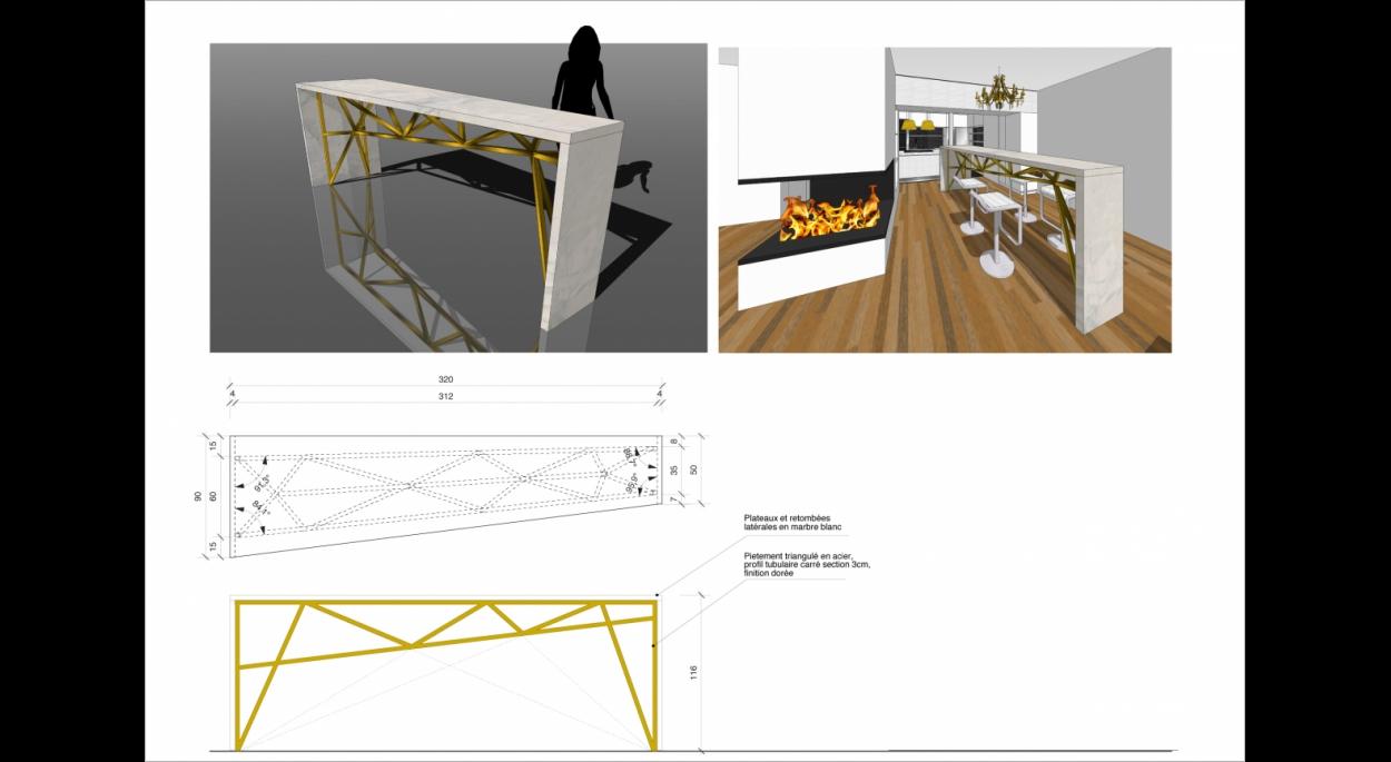 Appartement G _ création d'une table-bar