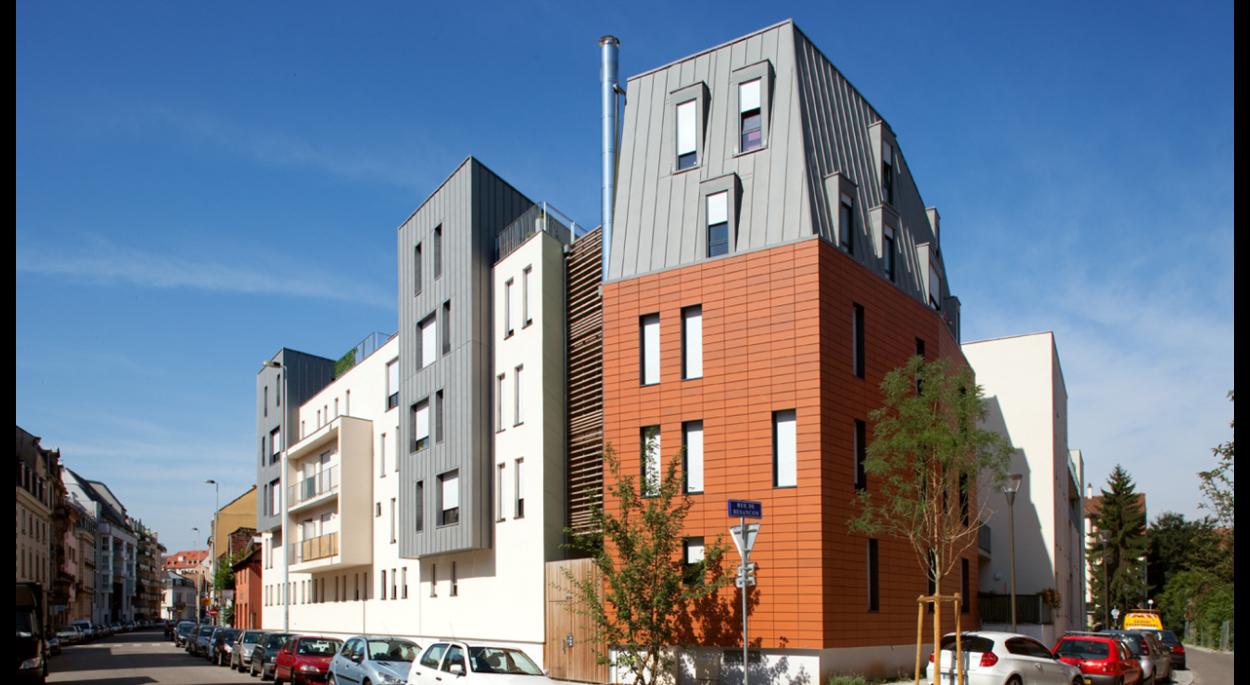 Les LOMBARDS 1 - construction de 78 logements à Strasbourg - Avenue de Colmar