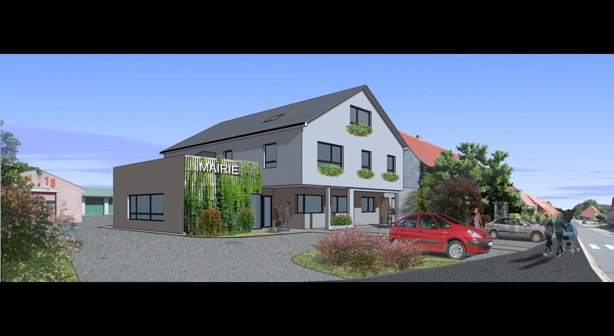 Construction de la mairie de Durstel avec 3 logements. DURSTEL. En cours
