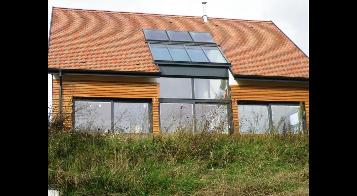 maison BBC, bioclimatique, construction neuve, ossature bois