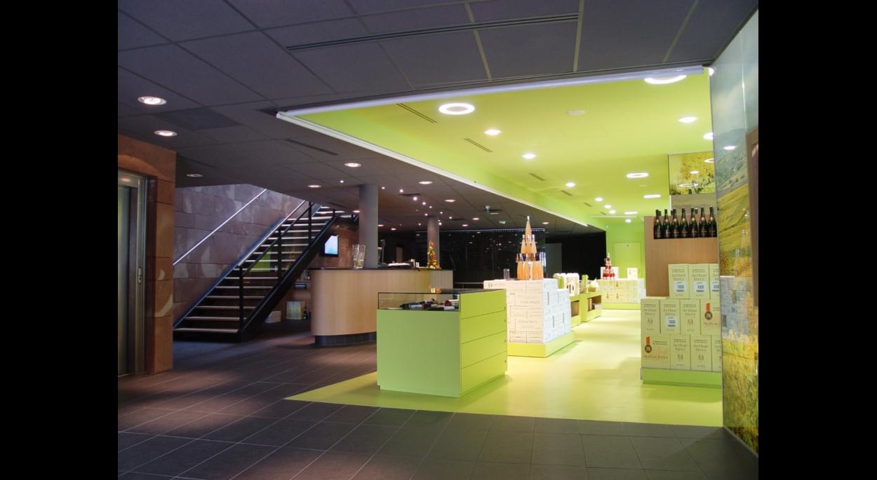 Arthur Metz - GCF - Création du caveau, point de vente et de salles de séminaires - MARLENHEIM (67)