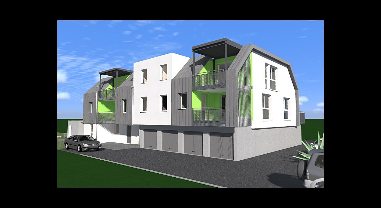 Construction d'un immeuble de 8 logements labellisé BBC à Eschau