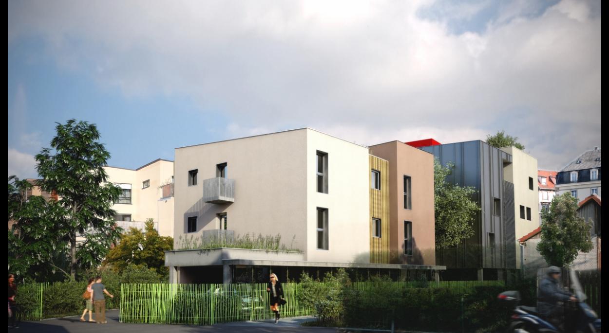 Les LOMBARDS 3 - 15 logements et 1 local pro. - Av. de Colmar-