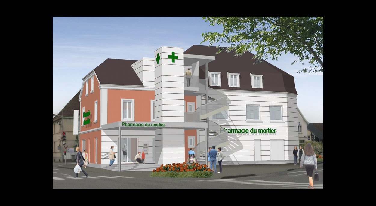 Réhabilitation de la pharmacie du Mortier et création d'un pôle médical