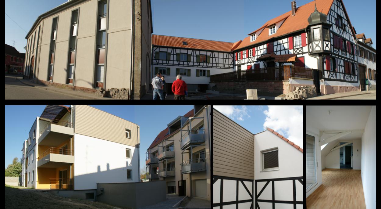 Bischwiller 17 logements (neuf + reconversion) en abord de monument historique