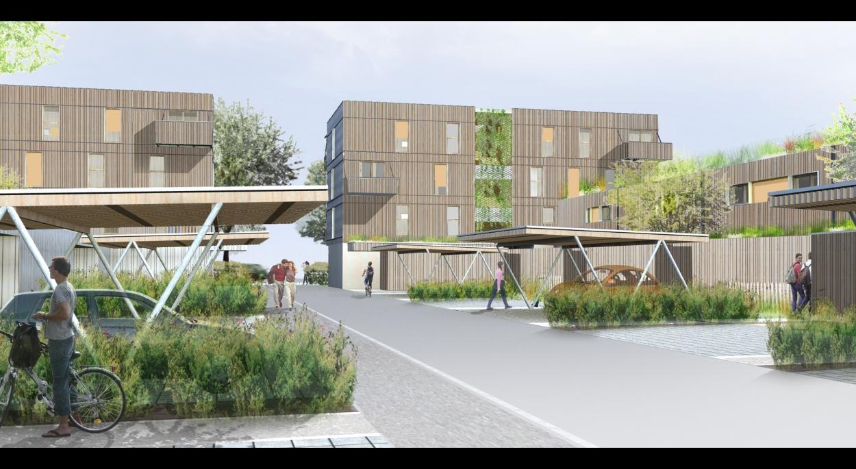 Construction de 20 logements «EFFINERGIE +», de 7 maisons passives et de 2 locaux tertiaires à Colmar