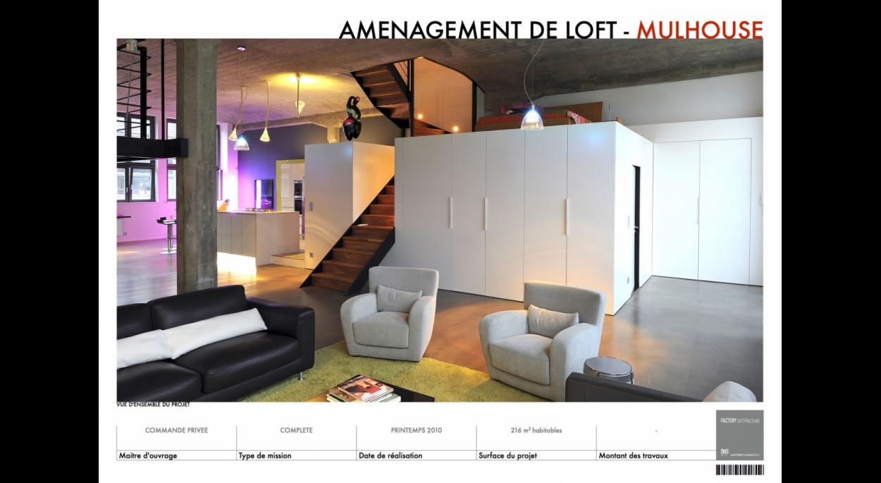 Création d'un loft à Mulhouse