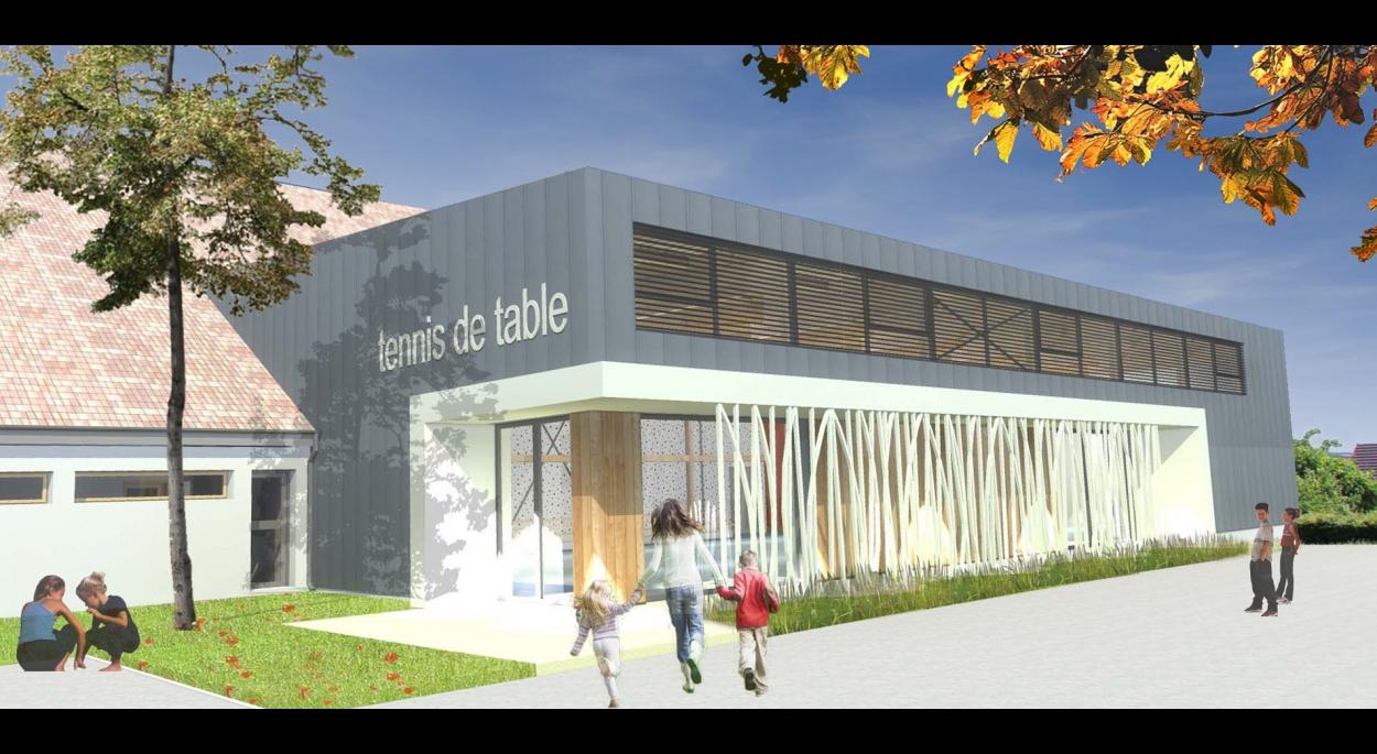 Construction d'une Salle de tennis de Table, en extension du Centre Sportif et Culturel à Bergheim