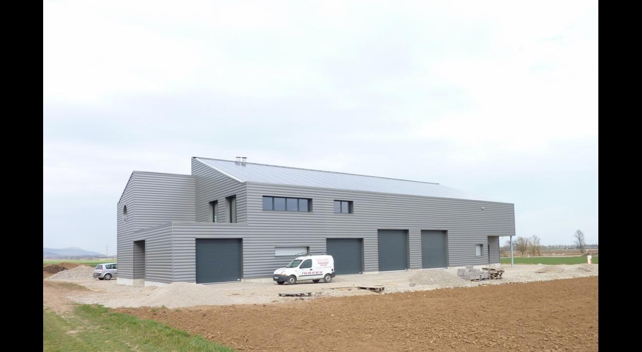 CONSTRUCTION DES LOCAUX D'ENTREPRISE AVEC CENTRAL PHOTOVOLTAÏQUE À BEBLENHEIM (68980)