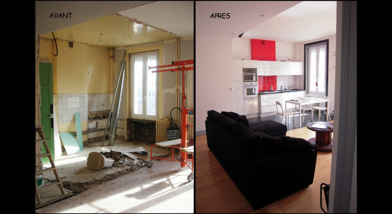amenagement appartement 56 m2