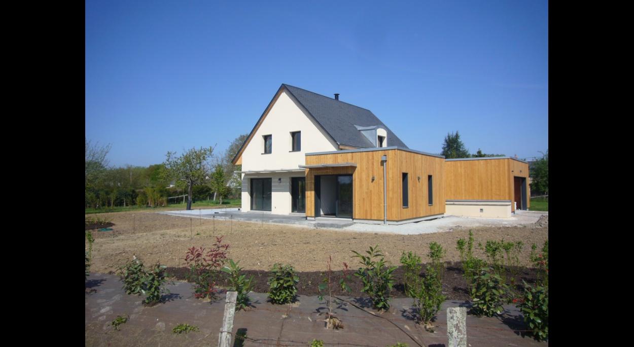 Architecte Le Mans maison mixte - moncé en belin | aaue - michel roinne