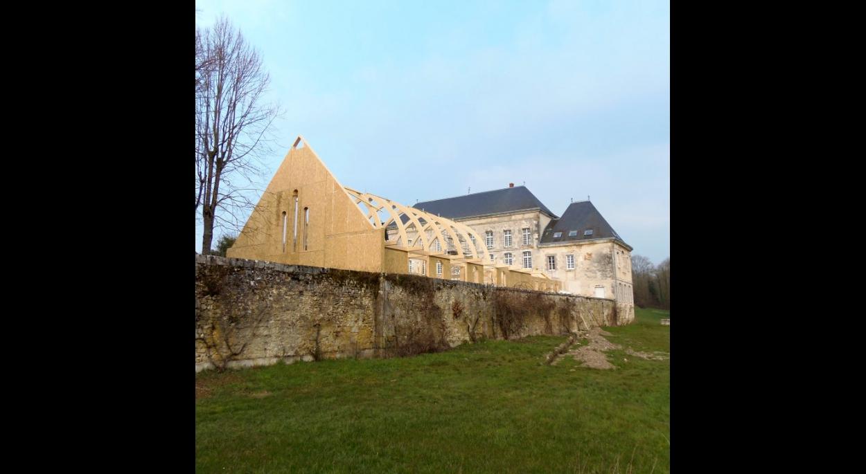 Chapelle bois bioclimatique - Construction