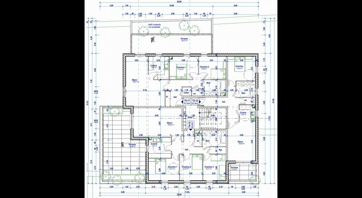 Résidence de la Fontaine 25660 SAONE - Etage 1