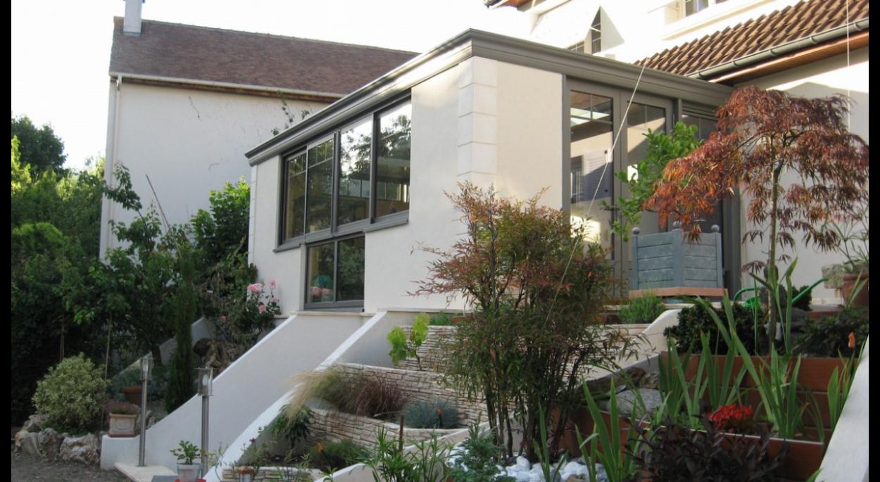 Puit De Lumiere Sol extension veranda à chatou   atelier de flor isabelle val de