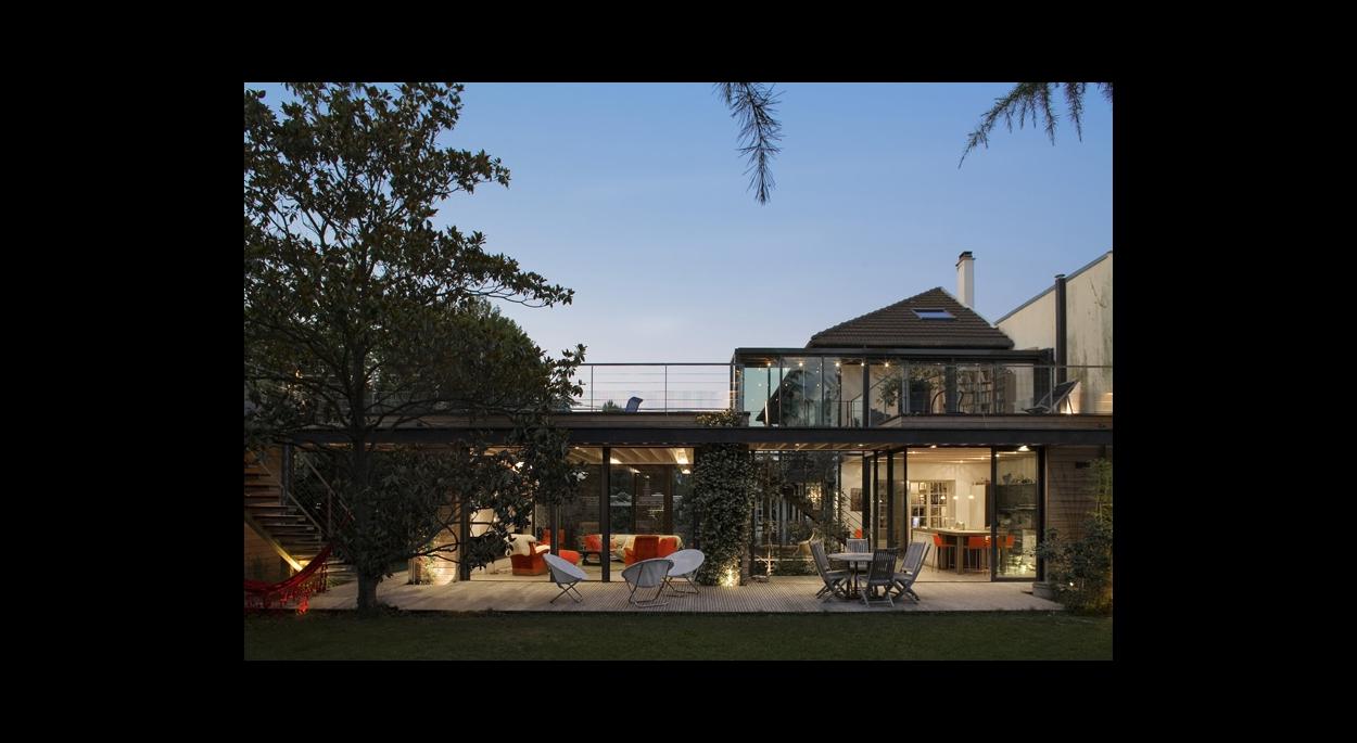 Extension Entre Deux Maisons Rueil Malmaison 92 Baudouin Bergeron Architectes Paris Paris Ordre Des Architectes