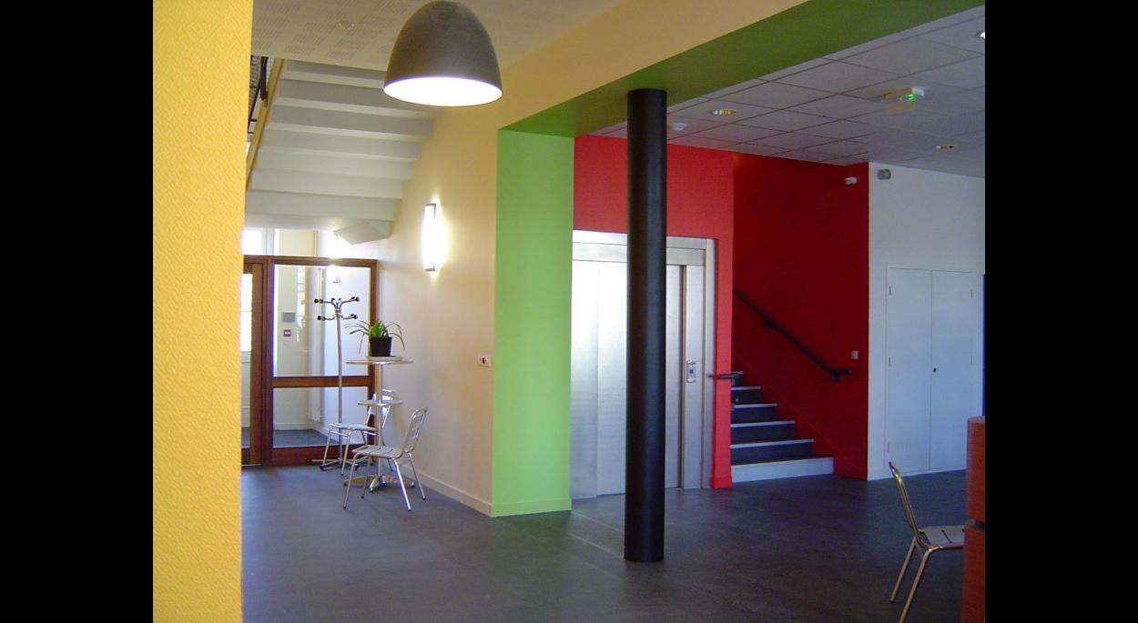 Maison de quartier La Touche Hall d'entrée