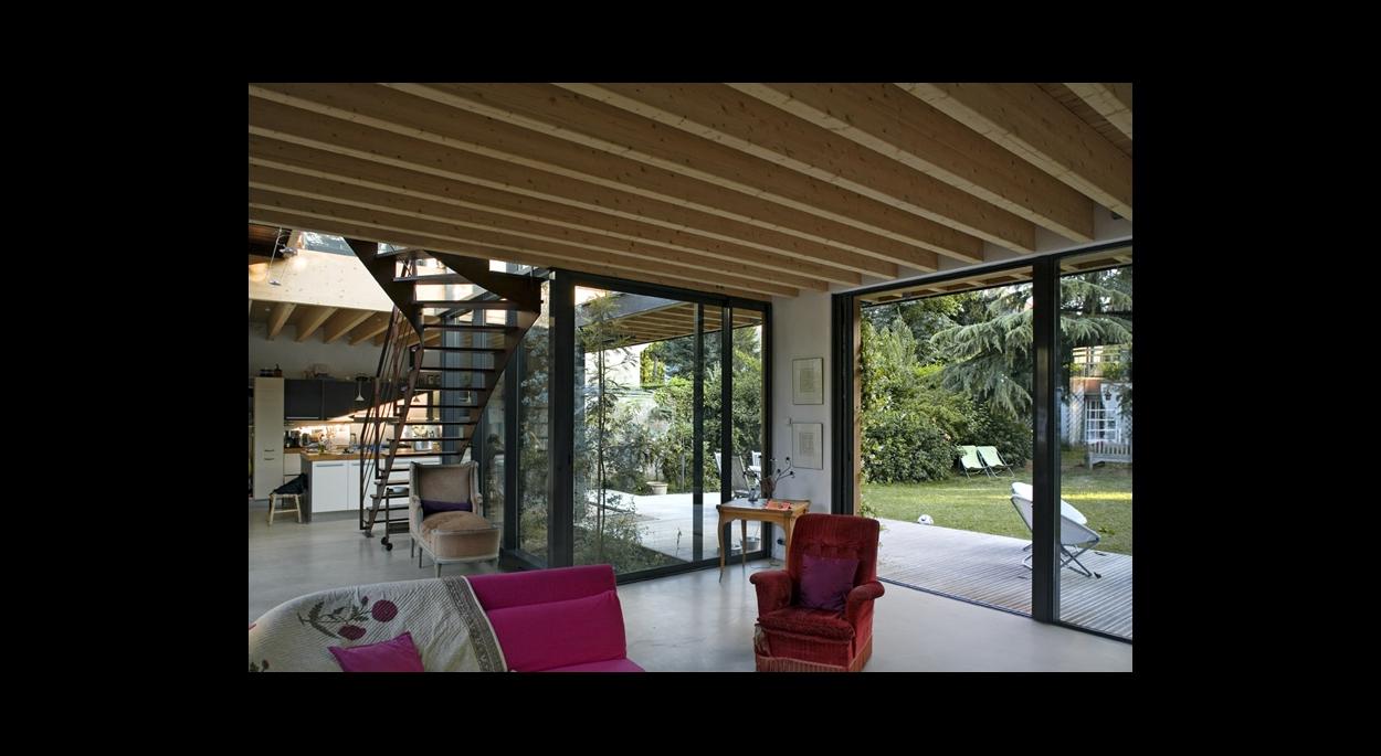 extension entre deux maisons rueil malmaison 92 baudouin bergeron architectes paris. Black Bedroom Furniture Sets. Home Design Ideas