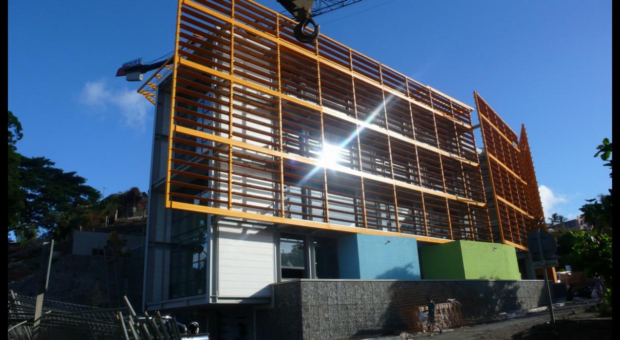 vue du brise soleil, façade nord
