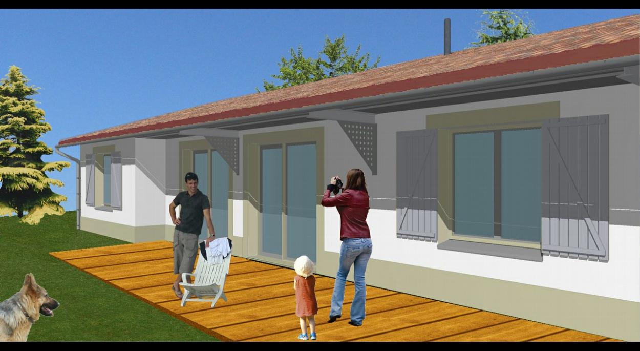 maison cluster à économie d'énergie   aàz-projet sarl d'architecture