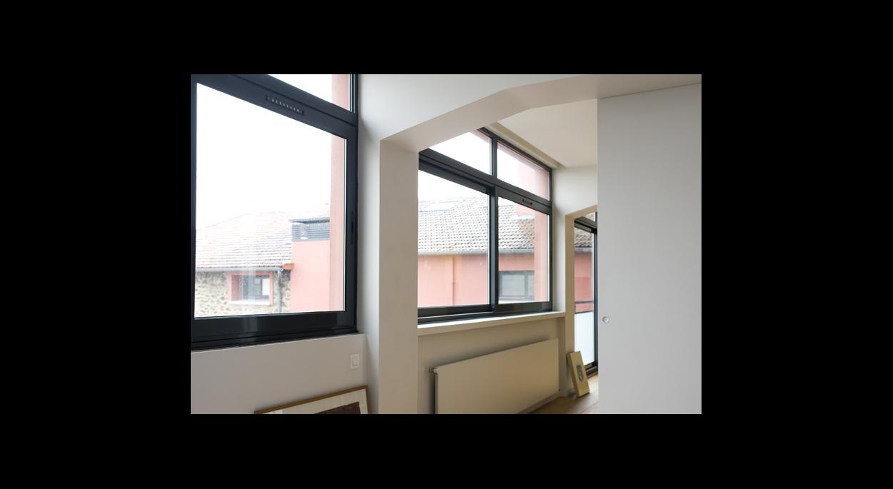 ouverture vitrée sur l'extérieur, lumière naturelle traversante, esprit du loft, paris
