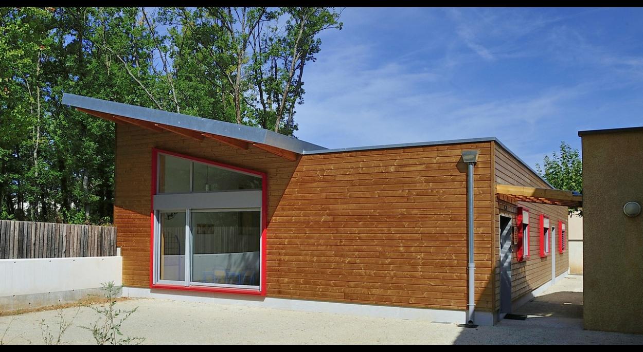 photo extension d'école cantine et garderie périscolaire mison benoit sejourne architecte