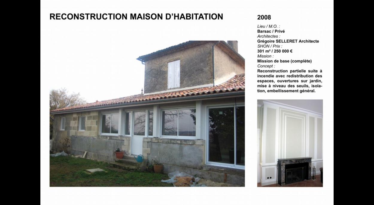 Restauration habitation suite à un incendie
