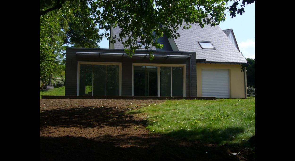 maison mixte bois/brique - sargé les le mans 2 | aaue - michel