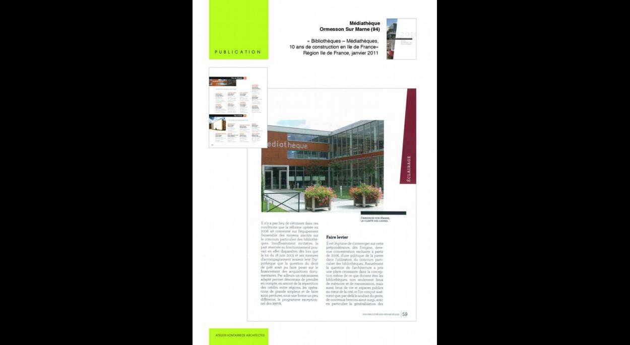 architecture médiathèque Ile de France