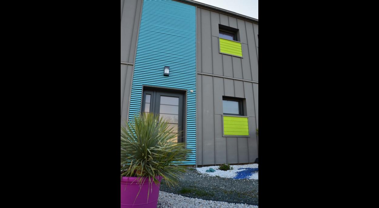 Facades De Maisons En Couleurs b3- zinc et couleurs en façade | lambert - degas maisons