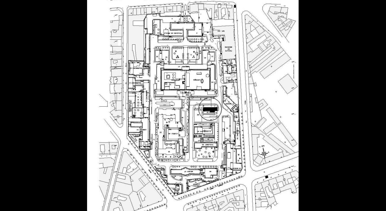 Plan de Masse de l'hôpital