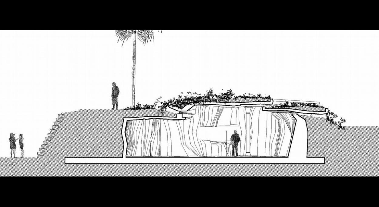 COUPE - DETAIL SALLE DE MEDITATION