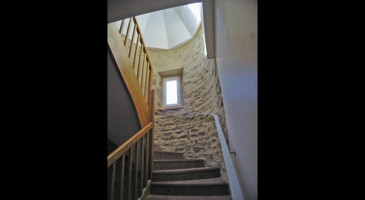 Rénovation escalier ancien presbytère