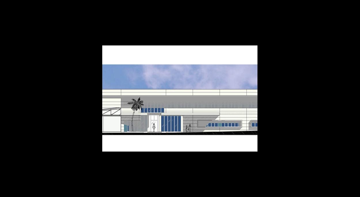 Hall de livraison d'hélicoptères par SLA Architecture