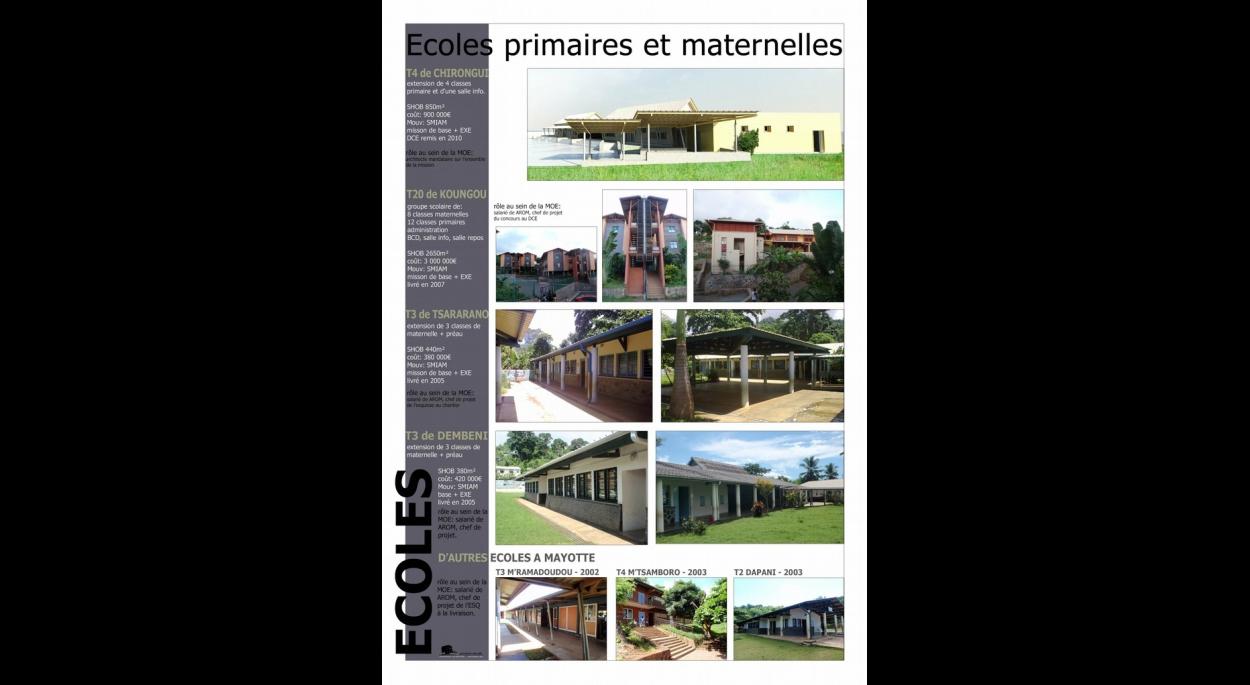 de nombreuses écoles à Mayotte chez AROM