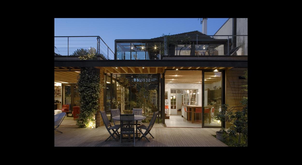 Extension entre deux maisons rueil malmaison 92 baudouin bergeron architectes paris - Architecte rueil malmaison ...