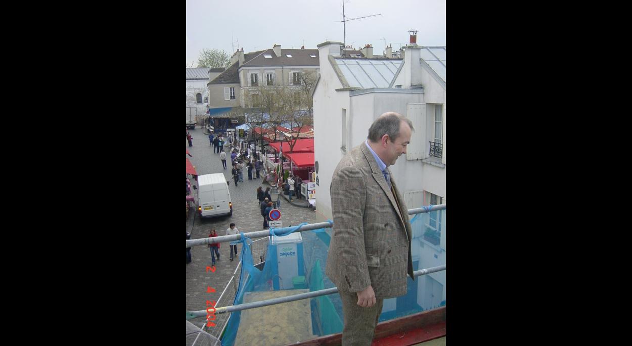 Chantier sur les toits de Paris