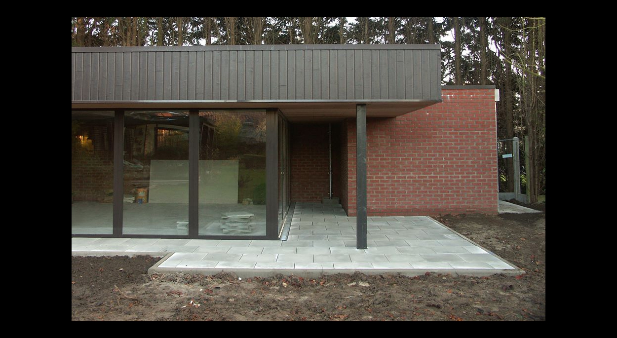 Composition architecture sur jardin