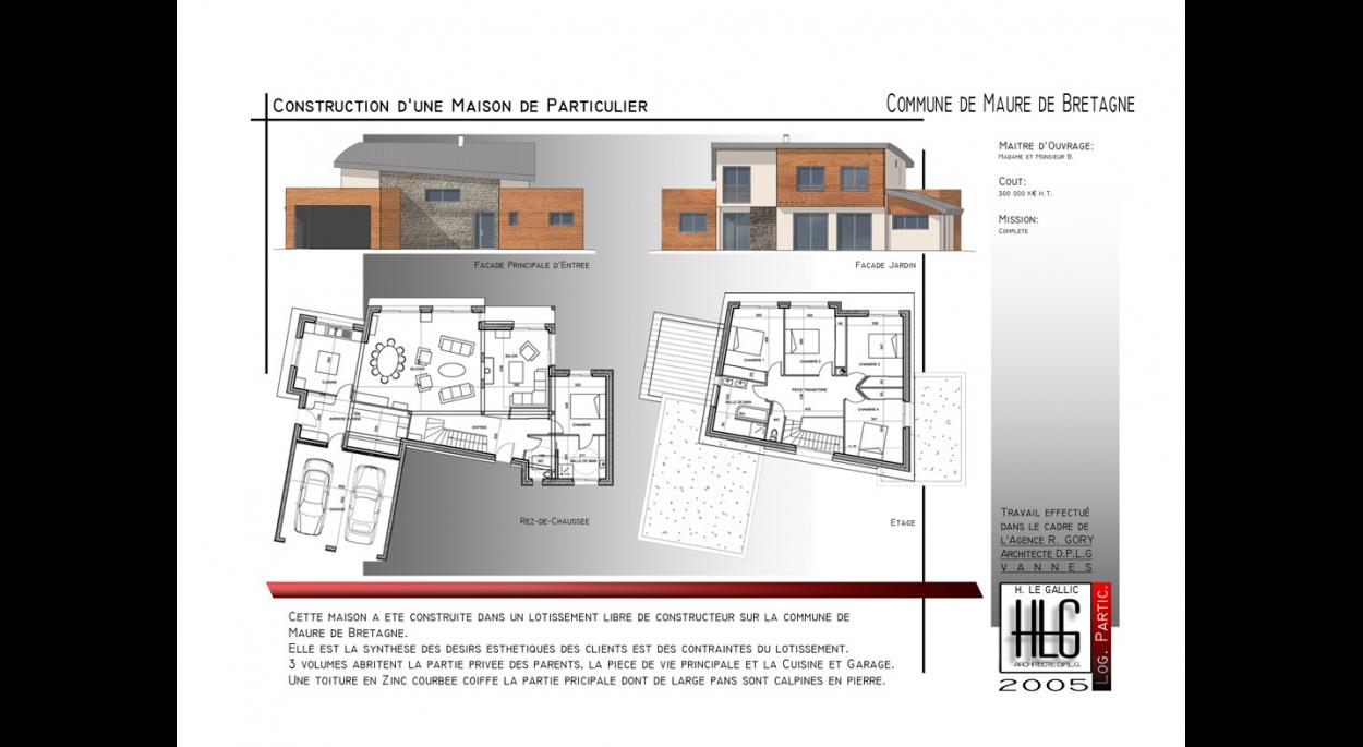 construction d 39 une maison individuelle maure de bretagne h le gallic architecte d p l g. Black Bedroom Furniture Sets. Home Design Ideas