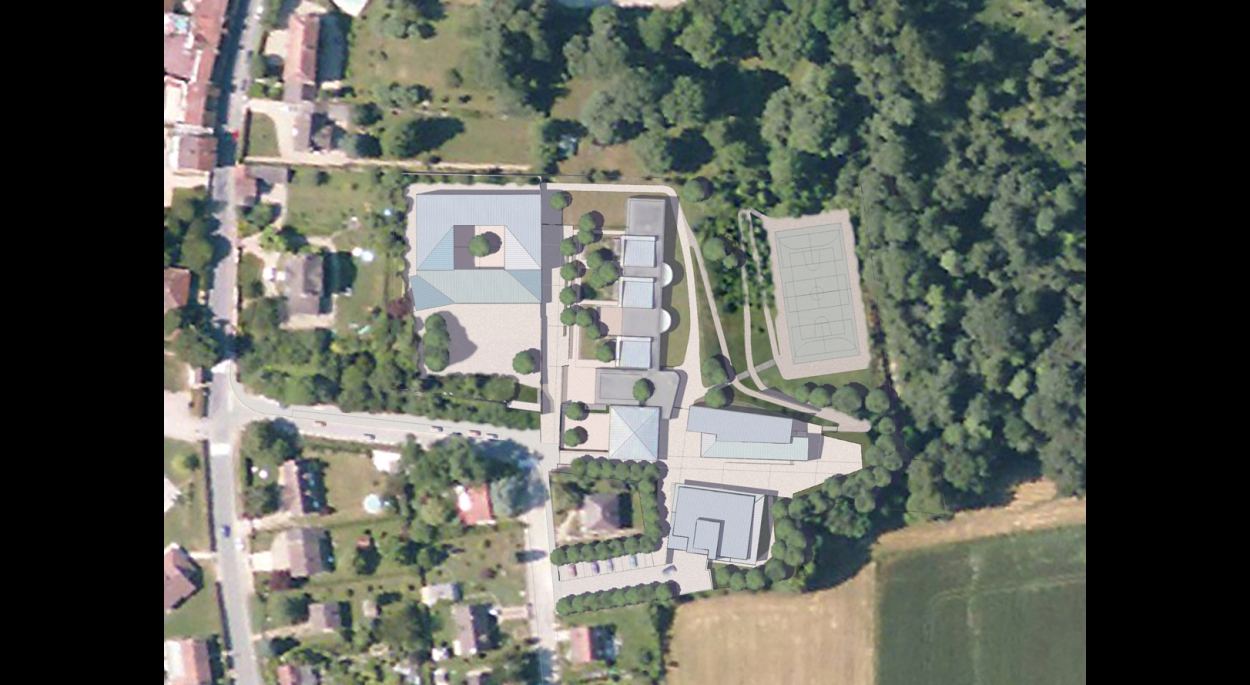 GROUPE SCOLAIRE - GUERARD  plan masse