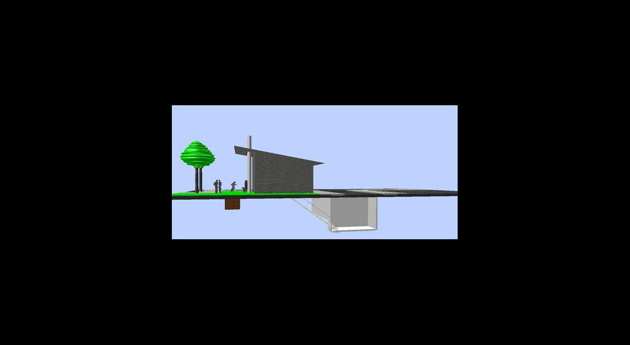 Schéma 3D de la chaufferie