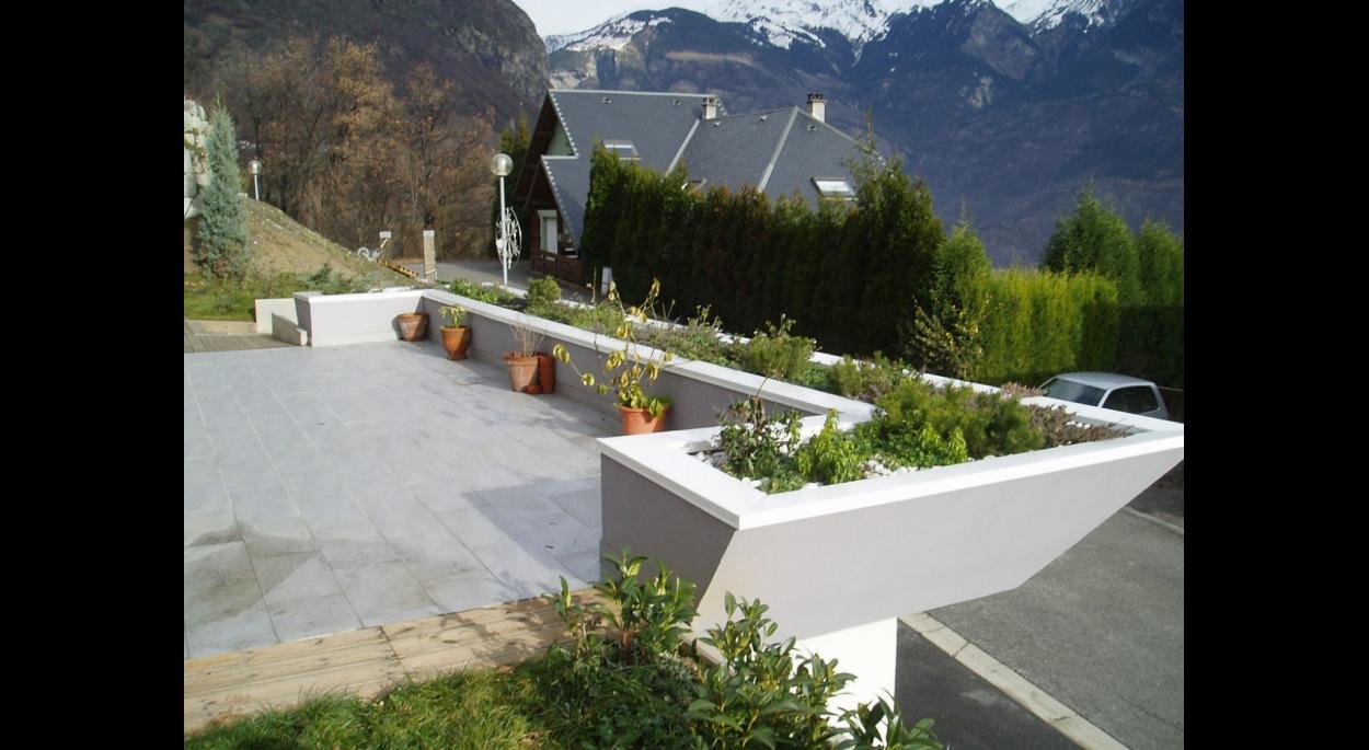détail terrasse solarium