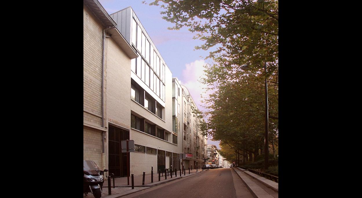 CFA ET LYCEE HOTELIER BELLIARD  - PARIS XVIIIème : vue sur la rue Belliard